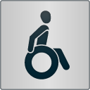 """Kennzeichen """"Barrierefreiheit geprüft - barrierefrei für Rollstuhlfahrer"""""""