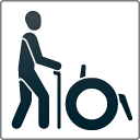 """Kennzeichen """"Barrierefreiheit geprüft - barrierefrei für Menschen mit Gehbehinderung"""""""