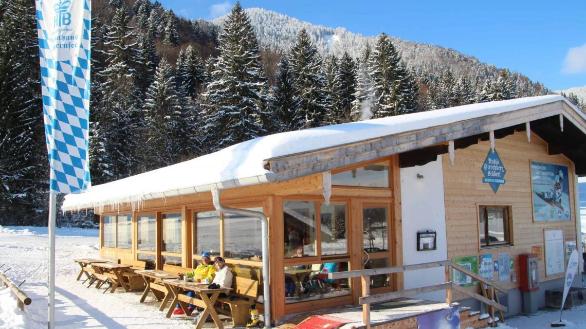 Außenansicht Hütte Winter