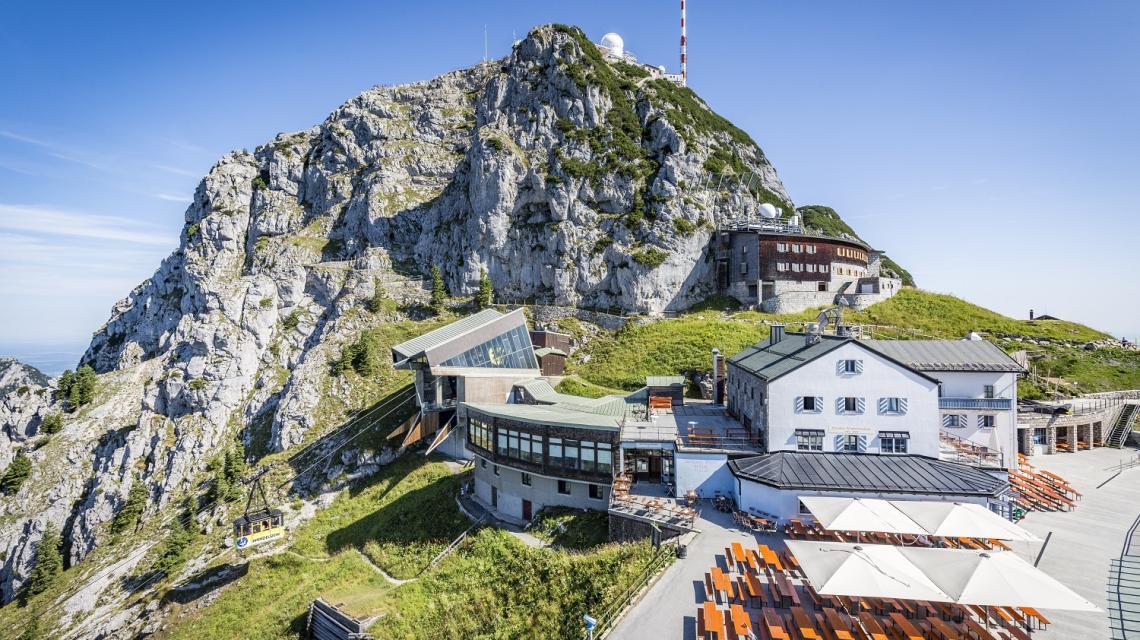 Wendelstein Gipfel Terrasse